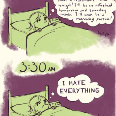 the annoying pain of insomnia comic by kecky