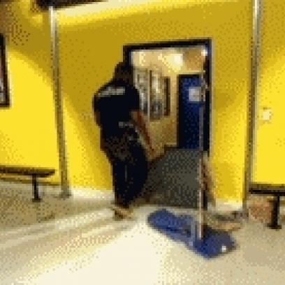 Rampage Jackson Rebuilds A Broken Door