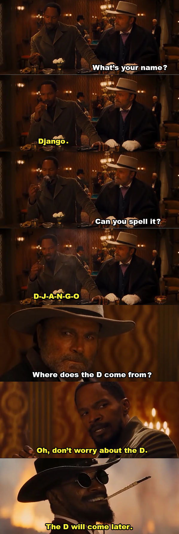 The D In Django Unchained the d in django unchained