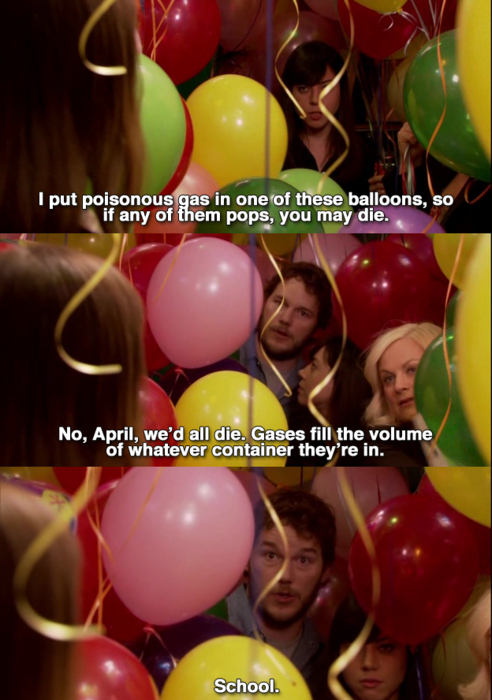April Wants To Poison Andy With A Balloon In Parks And Recreations april wants to poison andy with a balloon in parks and recreations