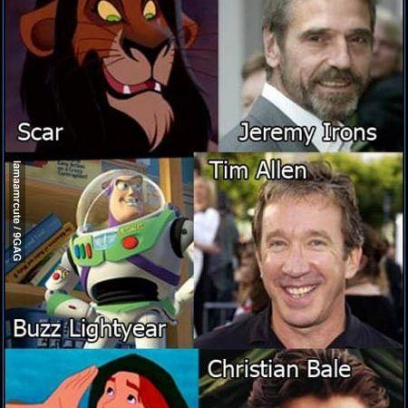 Disney Characters And Their Voice Over Actors
