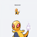 Beedrill & Charmander Pokemon Fusion Creates The Beemander