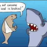 Do Not Consume If Seal Is Broken, Shark Has A Lot To Think About