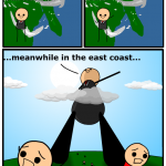 Don't Get In The Way Of The Giant Weather Reporter In Comic By Cyanide & Happiness