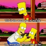 Homer Simpson Teaches Bart Things Will Always Get Worse