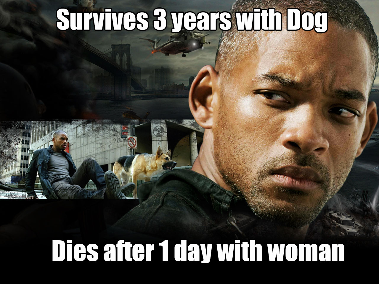 Funny Memes For Best Friends : I am legend couldn't go on without his best friend