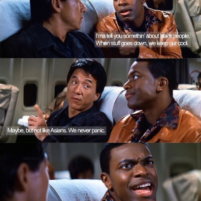 asian and black people