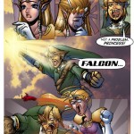Link Falcon Punches The Princess In Legend Of Zelda Comic By VectronStudios