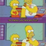 Lisa Simpson Doesn't Want Any Purple Fruit Donut On The Simpsons