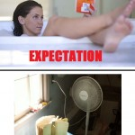 Reading While Bathing Expectation Vs. Reality