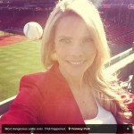 Reporter Takes A Selfie When A Homerun Ball Nearly Hits Her