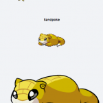 Sandshrew & Slowpoke Pokemon Fusion Creates The Sandpoke