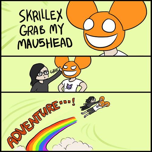 Skrillex Amp Deadmau5 Grab My Helmet Meme