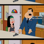 Stan & Haley Argue About Gun Control On American Dad