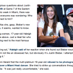 Justin Bieber Ignores The Girl Next To Him At The Miami Eastern Finals Game