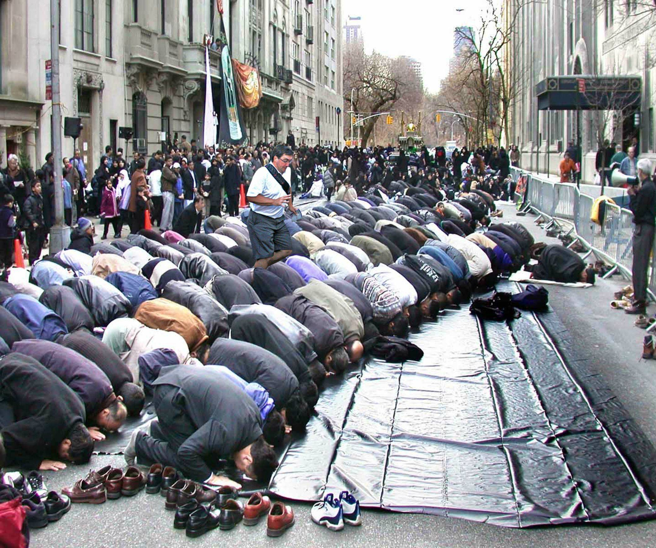 In The Way Guy Meme Stumbles Across The Praying Muslims in the way guy meme stumbles across the praying muslims