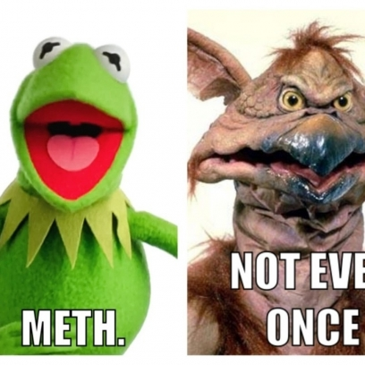 Kermit Becomes The Salacious Crumb Meme