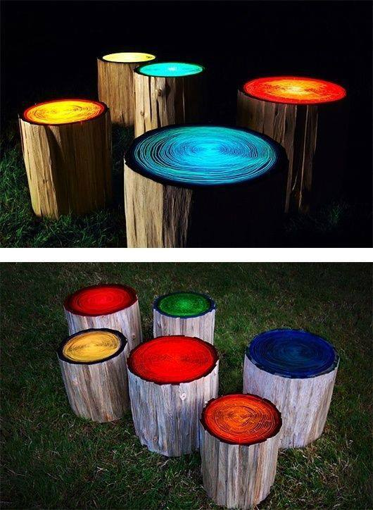 Glow In The Dark Wood glow in the dark wood seats look awesome