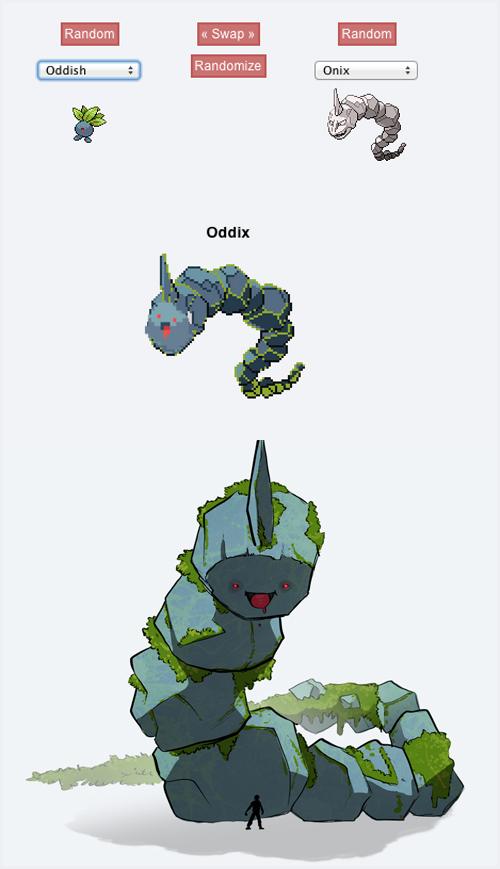 Oddish onyx pokemon fusion is pretty cute - Cute pokemon fusions ...