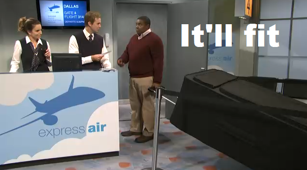 Kenan Thomson Goes Through Airline Baggage Check On