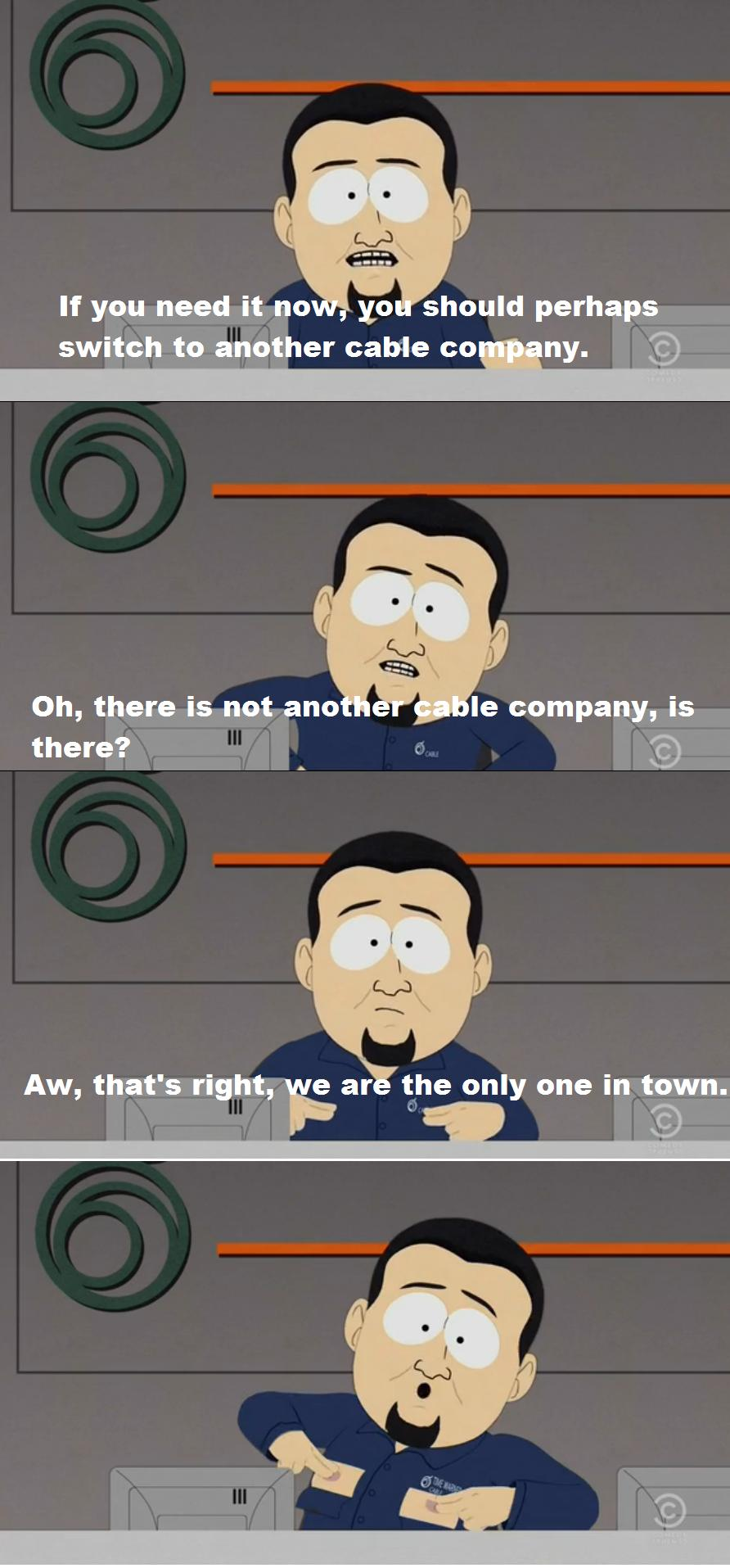 new southpark episode takes aim at cable providers