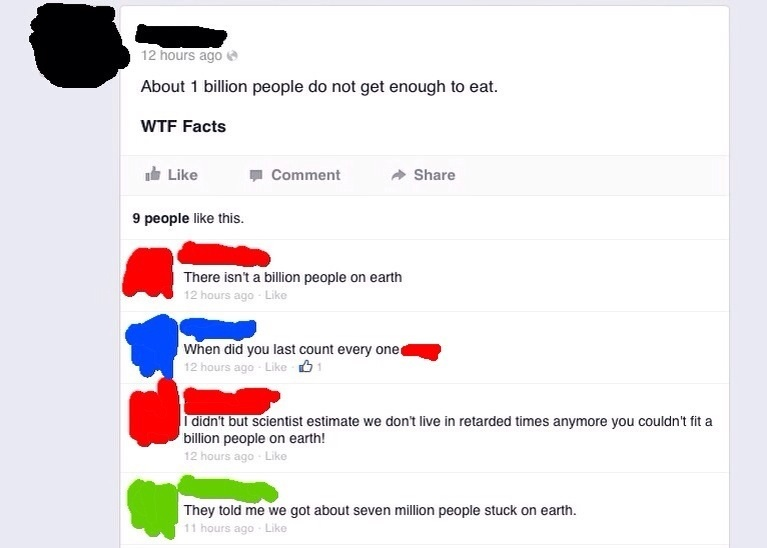 One Billion People Do Not Get Enough To Enough WTF Facts