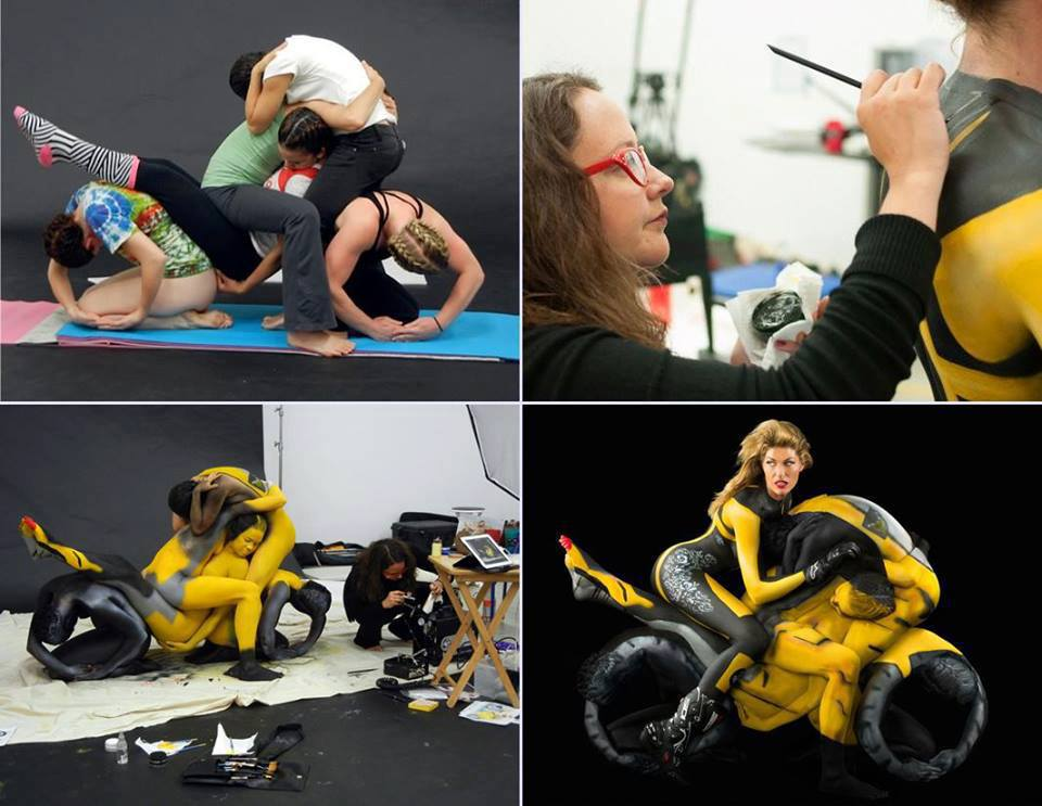 Think, that motorcycle body painting apologise, but