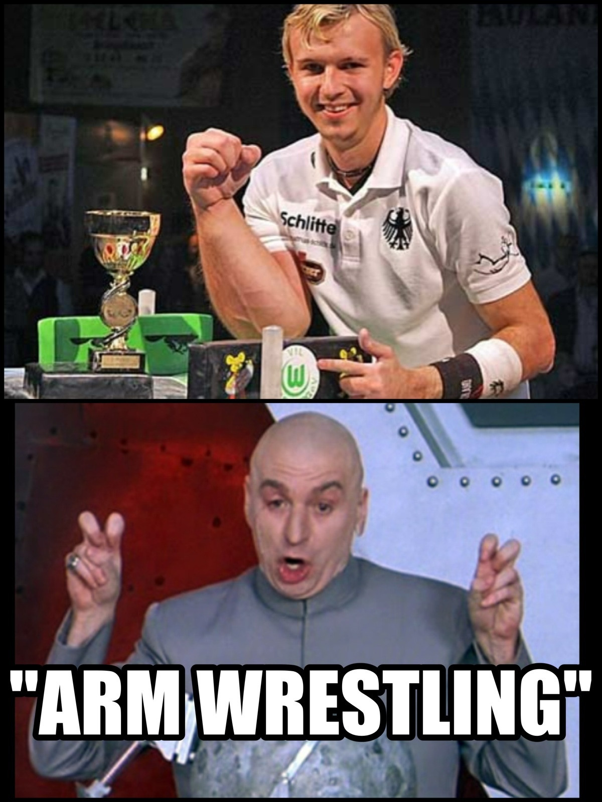 Wrestling is funny