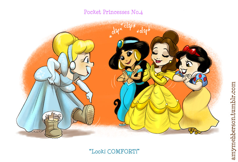 Cinderella Gets The Other Disney Princesses Into Ugg Boots In Pocket Princesses By Amy Webberson cinderella gets the other disney princesses into ugg boots in