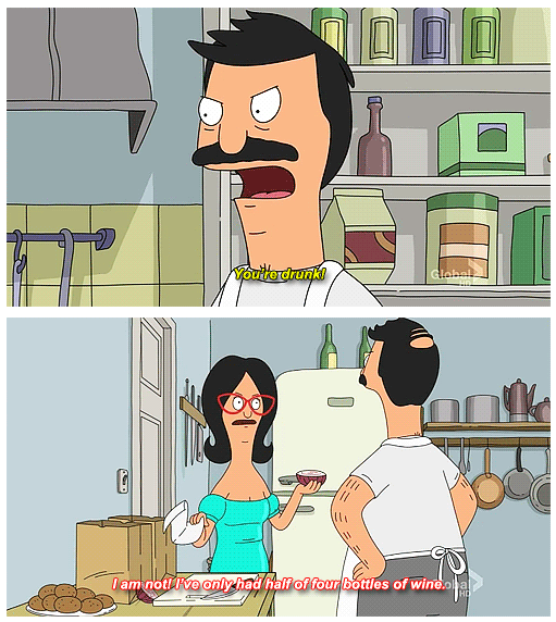 Bob Calls Linda Out On Drinking Too Much Wine On Bobs Burgers