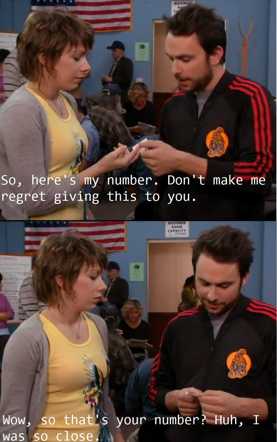 Charlie Day Was So Close To Getting The Waitressu0027s Number Right On Itu0027s  Always Sunny In Philadelphia