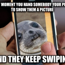 Awkward Moment Seal Meme Lets You Browse His Phone
