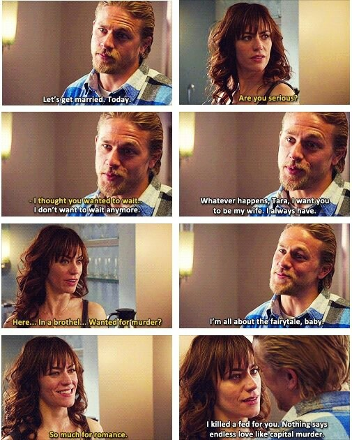 Jax Teller Asks Tara Knowles To Get Married Today On Sons Of Anarchy