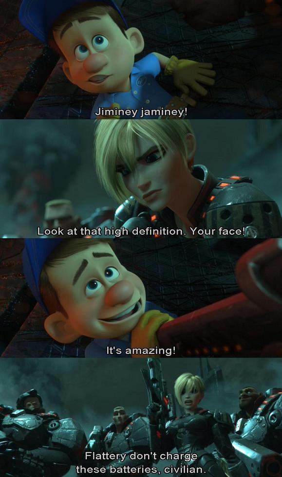 Fix It Felix Is Smitten By Sergeant Calhoun In Disneys Wreck It Ralph