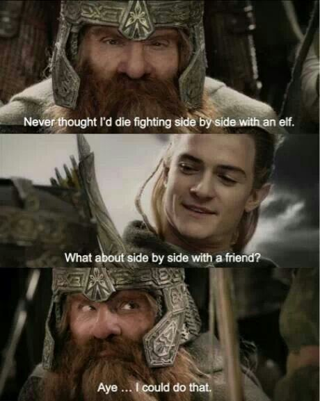 gimli and legolas relationship memes