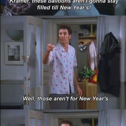 sc 1 st  2damnfunny.com & Kramer Has New Year Balloons and Everyday Balloons On Seinfeld