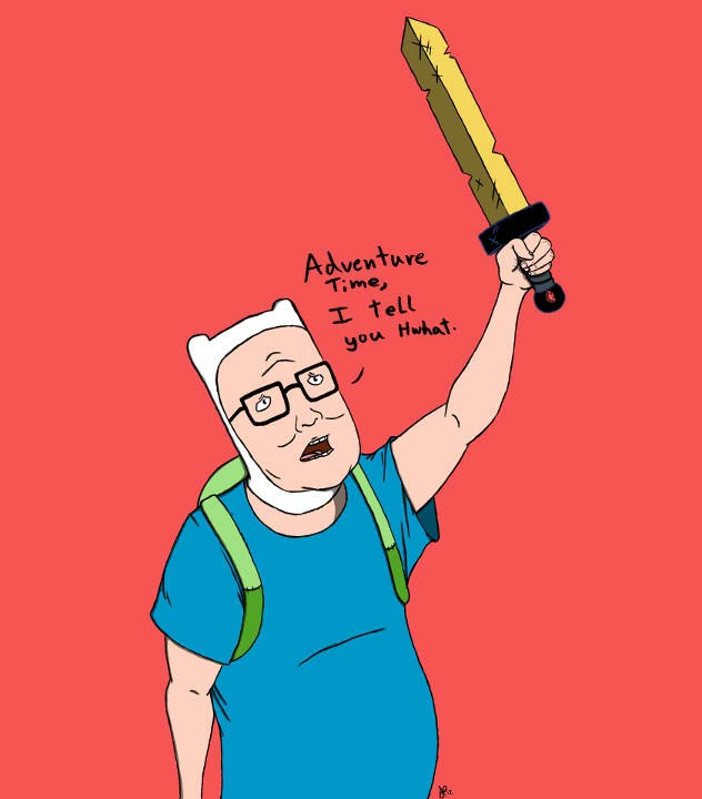 Hank Hill Sells Adventure And Adventure Time Accessories