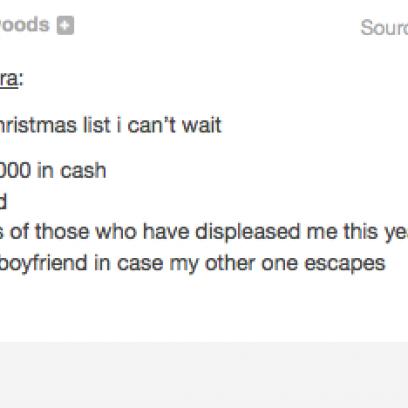 how to create a simple christmas list on tumblr