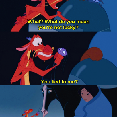 Mushu Is Tired Of Being Lied To By The Cricket Mulan