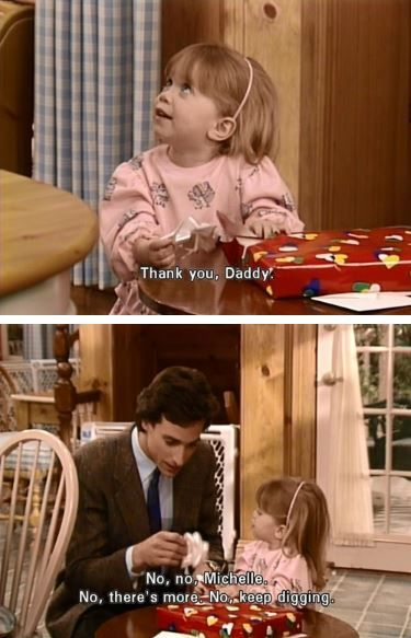 Michelle Tanner Gets a Birthday Present From Danny Tanner ...Danny From Full House 2014