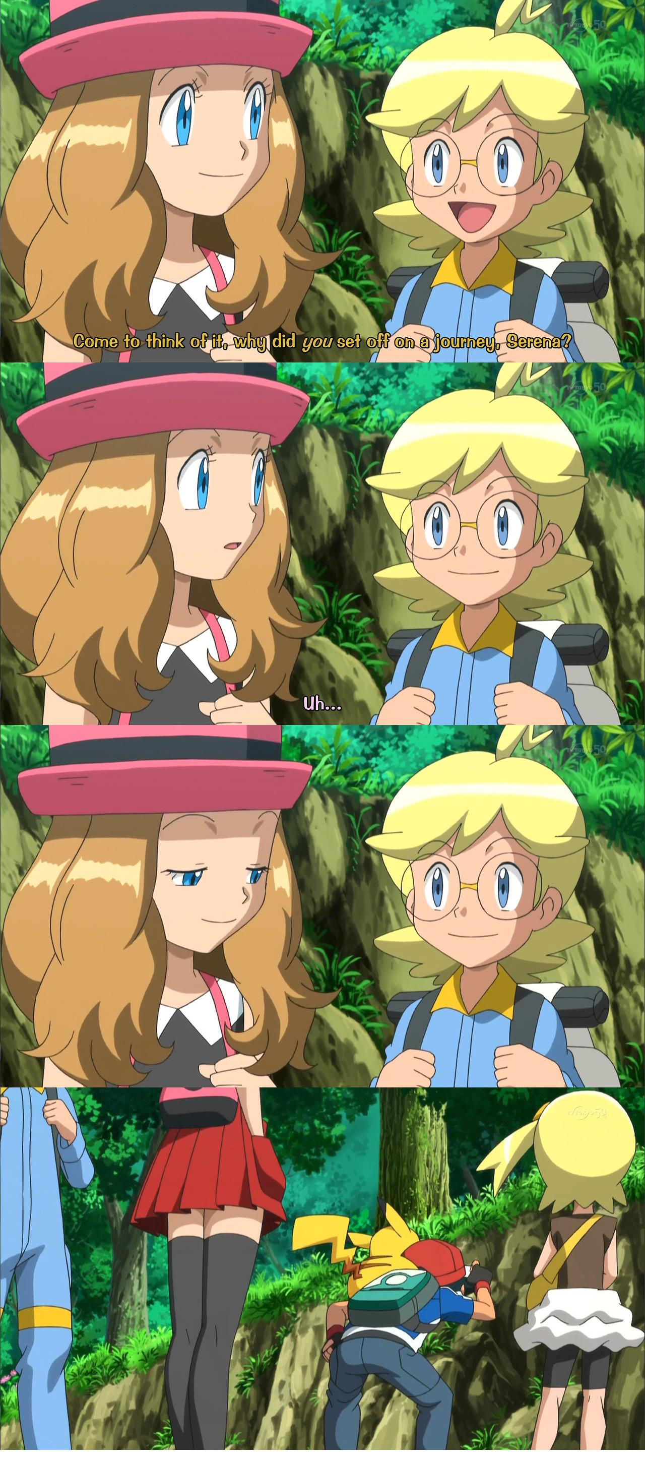 Serena Checks Out Ash's Behind While Daydreaming On ...